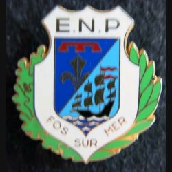 POLICE FOS SUR MER : insigne de l'école nationale de police de Fos sur Mer de fabrication A.B Paris