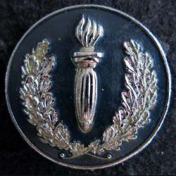 POLICE : insigne métallique de coiffure des compagnies républicaines de sécurité Mourgeon Paris déposé