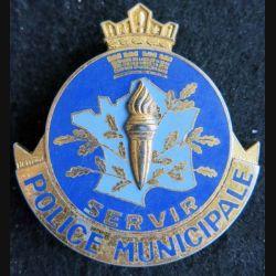 POLICE : insigne général métallique de la police municipale fabrication Drago
