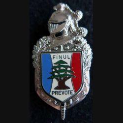 GENDARMERIE : : insigne métallique de la prévôté de la FINUL au Liban de fabrication Delsart H. 698