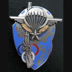 1° RCP : 12° compagnie du 1° régiment de chasseurs parachutistes Ballard au dos inscription PAMIERS 1ER RCP