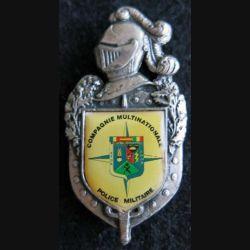 GENDARMERIE : : insigne métallique de la compagnie multinationale police militaire SFOR GN 0076 doré