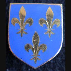 GENDARMERIE : Écu du Cdt gendarmerie départementale région parisienne A.B Paris G. 2137 émail sans écrou