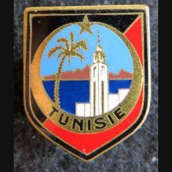 GENDARMERIE : Écu de la 11° légion garde républicaine Tunisie type 1 Drago sans écrou