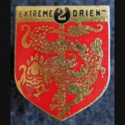 GENDARMERIE : Écu de la 2° légion garde républicaine de marche E.O. Drago en émail sans écrou