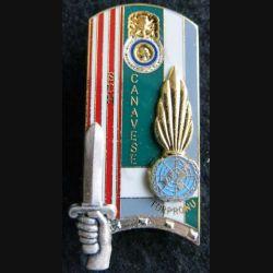 PROMOTION ENSOA : insigne de promotion Sch Canavese de fabrication Balme Saumur G. 4036