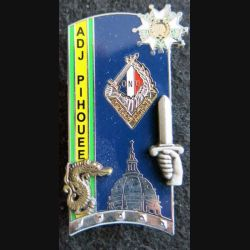 PROMOTION ENSOA : insigne de promotion Adj Pihouee de fabrication Arthus Bertrand G. 4893