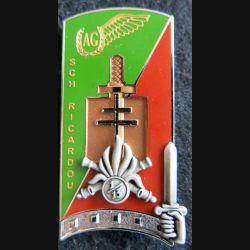 PROMOTION ENSOA : insigne de promotion Sch Ricardou de fabrication LMP G. 5493 numéroté 0037