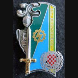 PROMOTION ENTSOA : insigne de promotion Mdl Mroczkowski de fabrication Balme Saumur G. 4429