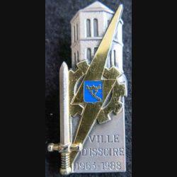 PROMOTION ENTSOA : insigne de promotion Ville d'Issoire de fabrication Balme Saumur G. 3478