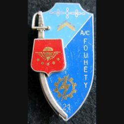 PROMOTION ENTSOA : insigne de promotion adjudant-chef Fouhety de fabrication Fraisse Paris