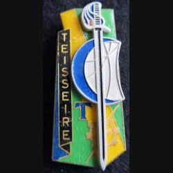 PROMOTION ENTSOA : insigne de promotion sergent-chef Teisseire de fabrication Beraudy 63 Ambert