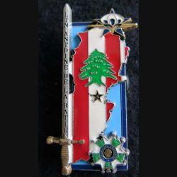 PROMOTION EMIA  : insigne métallique de la promotion Lieutenant de La Batie Arthus Bertrand Paris G. 4985
