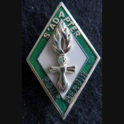 GENDARMERIE : insigne métallique de la 4° compagnie de l'école de Tulle Boussemart argenté