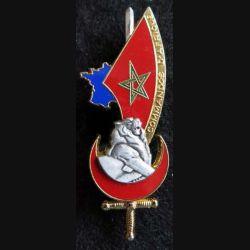 PROMOTION EOR : insigne métallique de la promotion Commandos d'Afrique Balme Saumur G. 4235