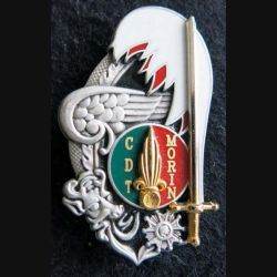 PROMOTION ST CYR : insigne métallique de la promotion Commandant Morin Balme Saumur G. 4405