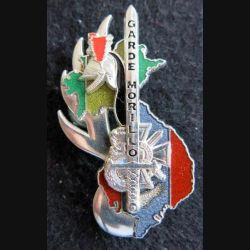PROMOTION ESOGN : insigne métallique de la promotion Garde Morillo Boussemart GN. 0315 translucide argenté