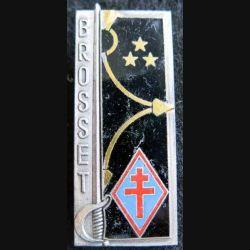 PROMOTION EMIA : insigne métallique de la 13° promotion Général Brosset FIA Lyon G. 2378 en émail