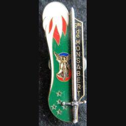 PROMOTION ST CYR : insigne métallique de la promotion Général de Monsabert Fraisse Paris G. 3106