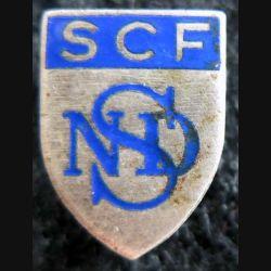SCF NSD : insigne métallique de boutonnière inconnu SCF NSD ou NDS ?