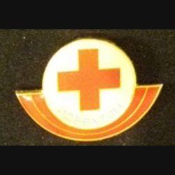 MONGOLIE : insigne de la croix rouge mongole en plastique