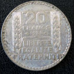 20 francs Turin argent 1938 occasion -1-