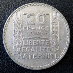 20 francs Turin argent 1938 occasion -2-