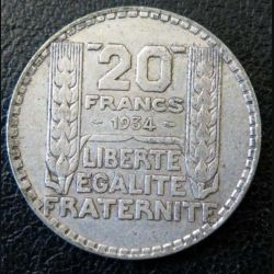 20 francs Turin argent 1938 occasion