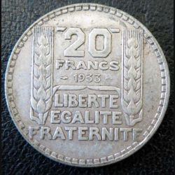 20 francs Turin argent 1933 occasion -5-