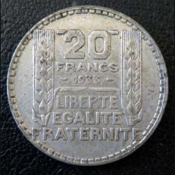 20 francs Turin argent 1933 occasion -7-