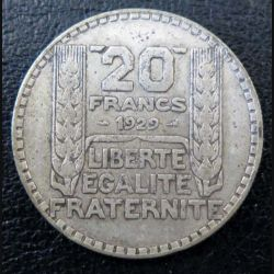 20 francs Turin argent 1929 occasion -9-