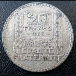 20 francs Turin argent 1933 occasion -10-