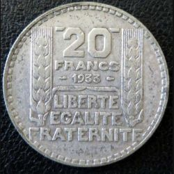 20 francs Turin argent 1933 occasion -11-