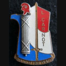 PROMOTION EMCTA : insigne métallique de la promotion Lieutenant CARNOT Fraisse Paris G. 2979