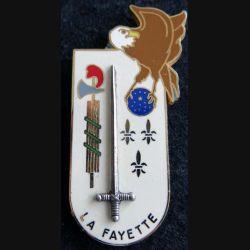 PROMOTION EOR : insigne métallique de la promotion La Fayette Drago Paris G. 2457
