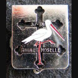 PROMOTION EMICC ST MAIXENT : insigne métallique de la promotion RHIN et MOSELLE 37-39 retirage