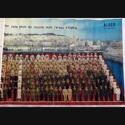 Reproduction A3 couleur de la photo qui raconte toute l'armée d'Afrique du 14 juillet 1959  à Alger (C161)