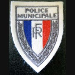 POLICE : Insigne de la police municipale en tissu 9,7 x 7,2 cm sur velcro