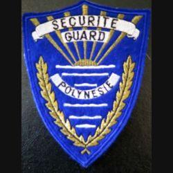 Insigne tissu de la Sécurité guard Polynésie 10,1 x 13,2 cm