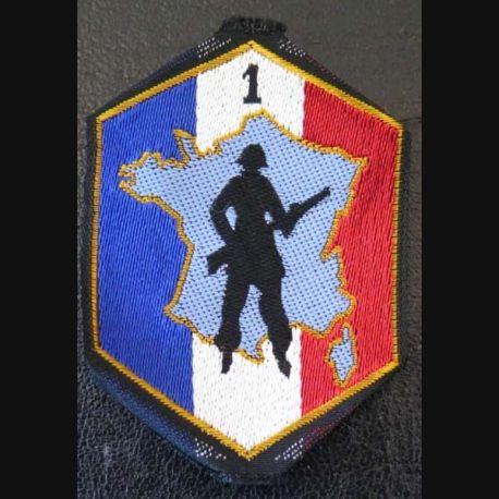1° RM DOT : insigne tissu de la 1° région militaire défense opérationnelle du territoire