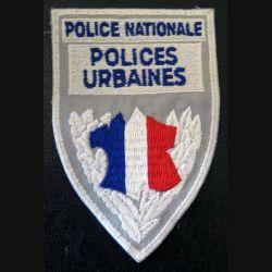 POLICE : Insigne de la police nationale polices urbaines en tissu 7 x 11 cm