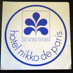 Autocollant Hôtel Nikko de Paris