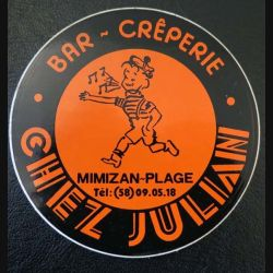 Autocollant Chez Julian Bar Crêperie Mimizan-Plage