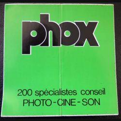 Autocollant Phox 200 spécialistes conseil Photo - ciné - son