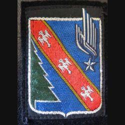 4° DAM : insigne tissu de la 4° division aéromobile sur feutrine