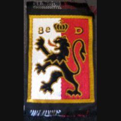 8° DI : insigne tissu de la 8° divission d'infanterie avec chiffre 8° D