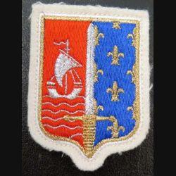 CMIDF :insigne tissu du commandement militaire d'Ile de France sur feutrine avec attaches au dos