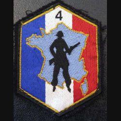 4° RM DOT : insigne tissu de la 4° région militaire défense opérationnelle du territoire sur feutrine