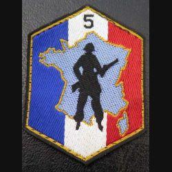 5° RM DOT : insigne tissu de la 5° région militaire défense opérationnelle du territoire
