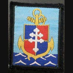 9° DIMA : Insigne tissu de la 9° division d'infanterie de marine 9°DIMA couleur bleue turquoise modèle ancien